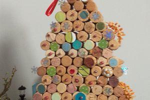 Albero di Natale con Tappi di sughero.