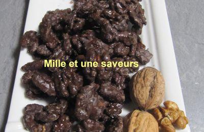 Noix caramélisées au chocolat