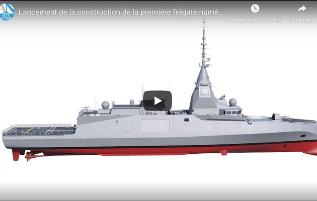 First video présentation of the new digital frigate of the French Navy
