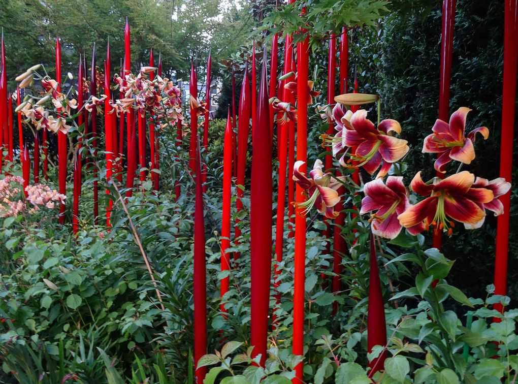 Diaporama : Chihuly Garden and Glass harmonie rouge et orange