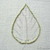 Long and Short Stitch Shading Lesson 6: A Simple Leaf