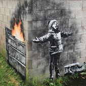 Season's greetings, the Banksy mural in Port Talbot transforms snowflakes into air pollution - LifeGate