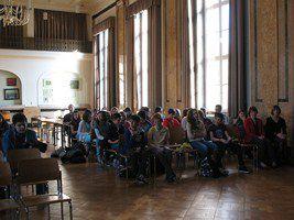 Au Lycée Robert Schuman (Luxembourg) à l'occasion des Journées du livre et du droit d'auteur (20-23 avril 2013). Détails ici : http://www.lalutiniere.com/article-journee-mondiale-du-livre-2013-concours-de-lecture-116207019.html