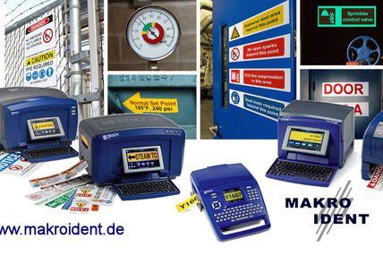 Drucken von Sicherheits- und Gebäudekennzeichnungen