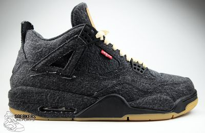 Nike Air Jordan IV Rétro LEVI'S Denim Black