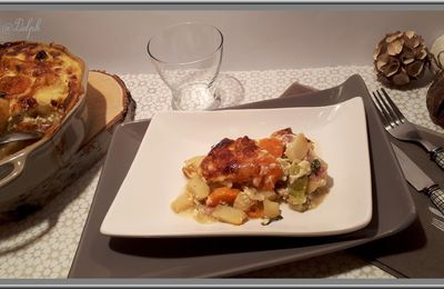Gratin de légumes d'hiver au jambon Foodista#47
