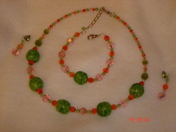 voici les différents bijoux que j'ai réalisés