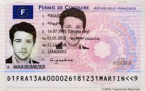 Photo d'identité pour le nouveau permis de conduire