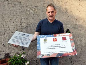 Pose de plaques commémoratives à la mémoire de Stanislas KOZINSKI et de la Libération d'Algrange en 2014