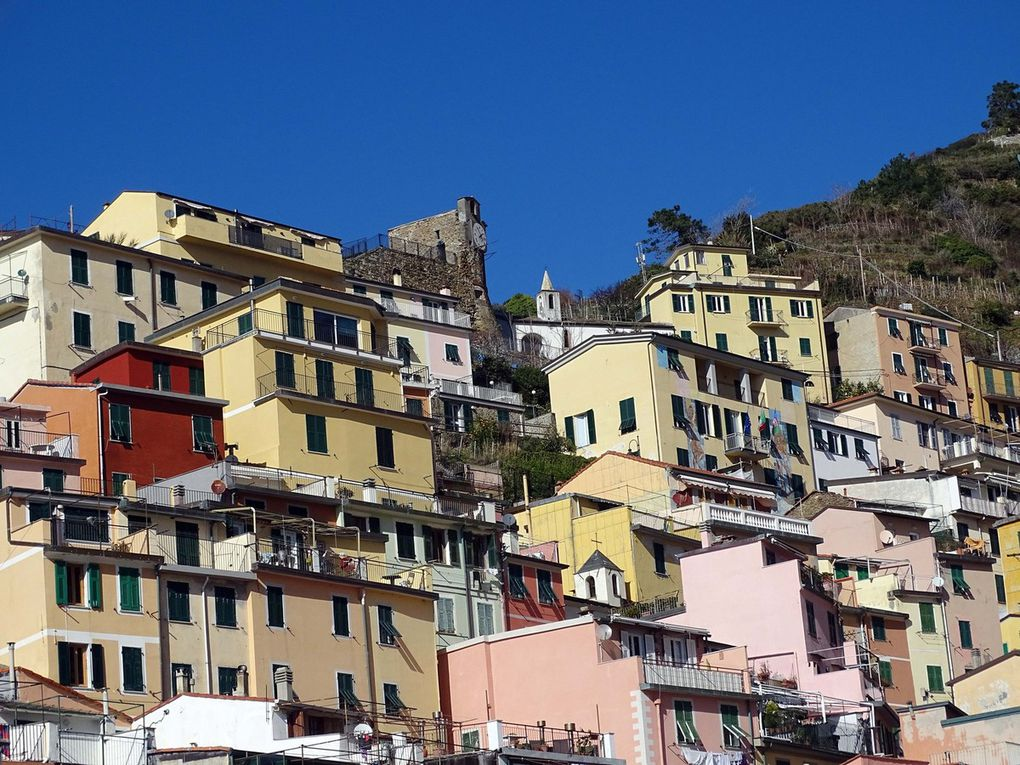 En mer et Italie les Cinque Terre