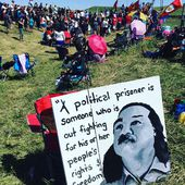 """Déclaration de Leonard Peltier du 6 février 2018 - """" Je suis bouleversé car aujourd'hui débute ma 43ème année d'emprisonnement. """" - coco Magnanville"""