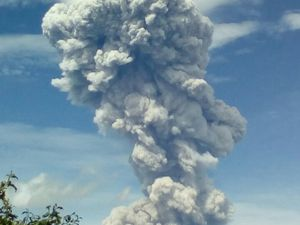 Sources: Conred and INSIVUMEH Santiaguito 01/06/2016 - Development of the eruptive column, with a lateral bud, and summital pileus - a click to enlarge - Photos Conred