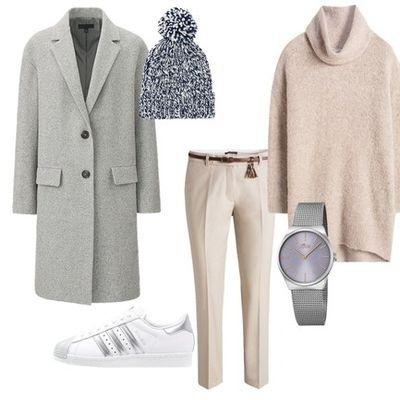 Idées tenue autour d'un manteau gris clair