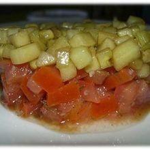 Tartare tout frais concombre tomate