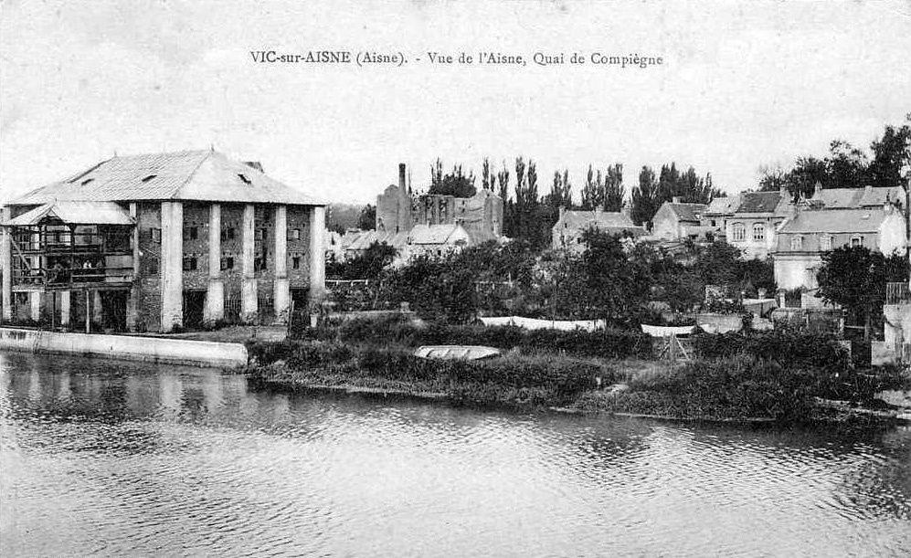 Album - le village de Vic-sur-Aisne, les ponts, le port, les moulins, la riviére Aisne