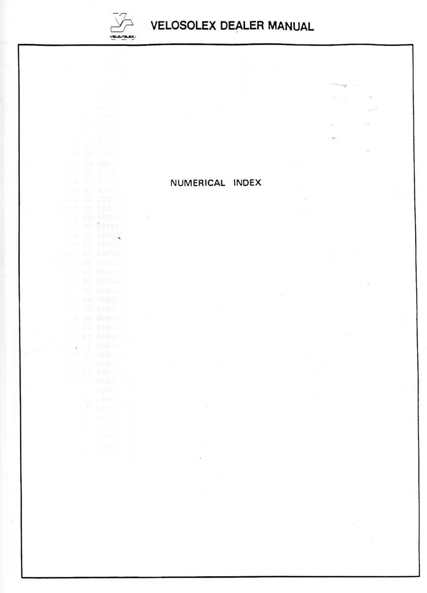 19. Velosolex 4600 V2 Parts Catalog