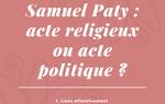 Les débats de Vierzonitude : l'assassinat de Samuel Paty, acte religieux ou politique ?