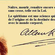 """Bienvenue sur le site du Centre Spirite Lyonnais Allan Kardec :  """"Naître, mourir, renaître encore et progresser sans cesse, telle est la loi"""""""