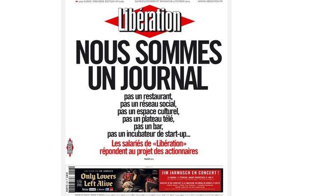 """Libération : """"Nous sommes un journal, pas un restaurant, pas un réseau social, pas un espace culturel..."""""""