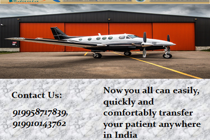 Prominent and Emergency Service by Vedanta Air Ambulance from Kolkata to Other Cities