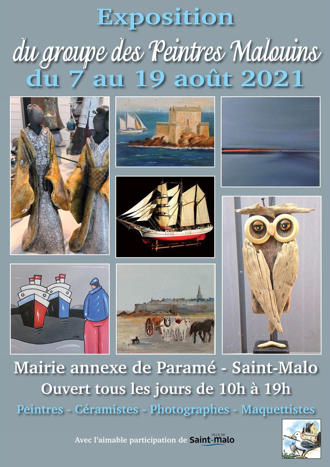 Affiche Le Groupe des peintres malouins août 2021