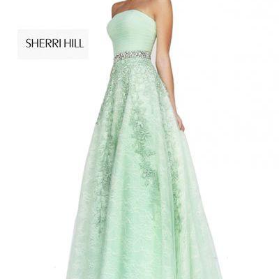 Sherri Hill 11123 Green Prom Dress 2018