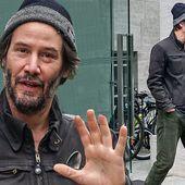 Keanu Reeves sports shaggy beard as he steps out to film John Wick 4