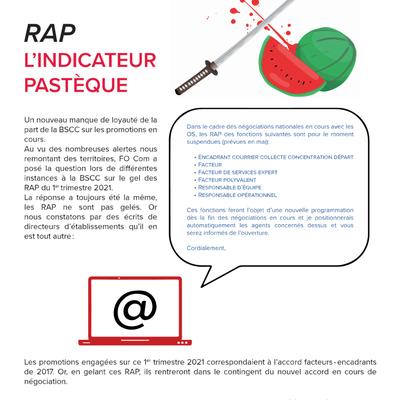 Courrier – RAP, l'indicateur pastèque