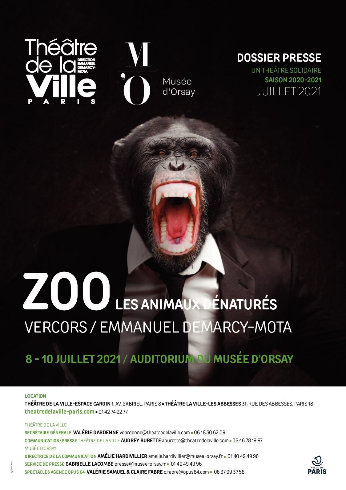 Zoo. Les Animaux dénaturés. Être ou ne pas être humain…