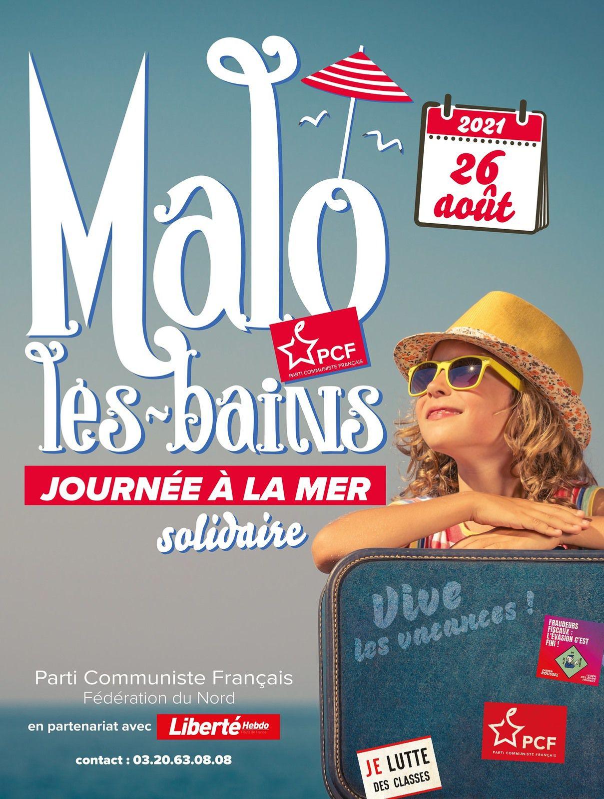 La journée à la mer du PCF revient le 26 août à Malo-les-Bains