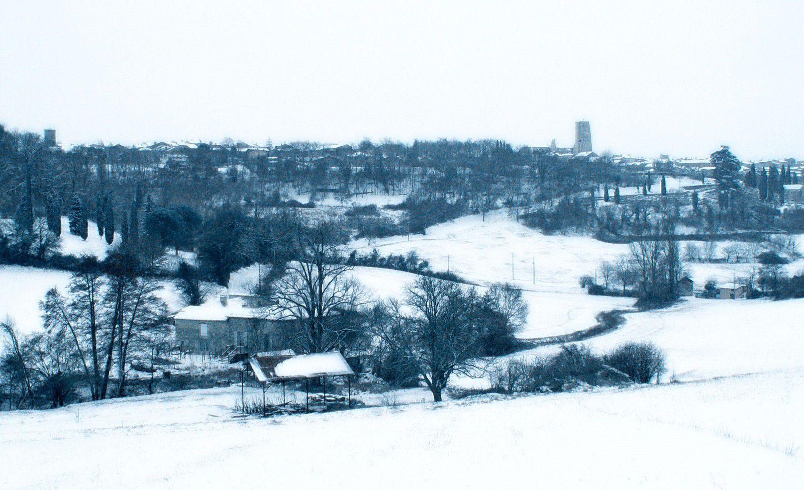 ruisseau de saint jourdain - lectoure - Les ruisseaux - mouline de belin - paysage hivernal