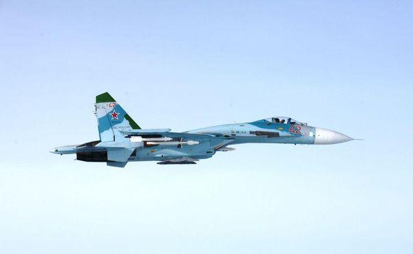 © Ilmavoimat - Le premier Su-27 Flanker intercepté dans l'après-midi.