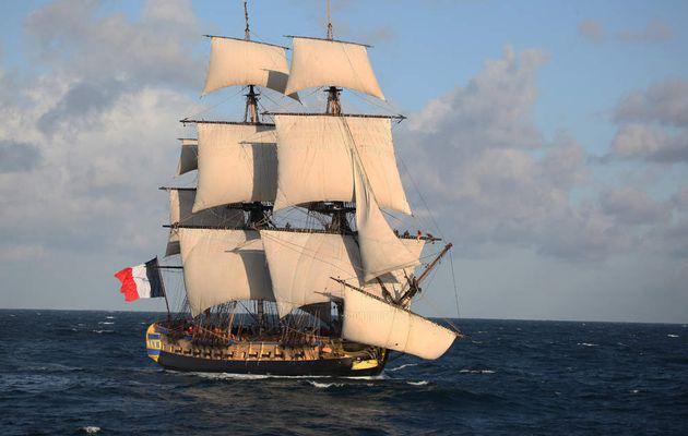L'Hermione part aujourd'hui de La Rochelle pour une tournée méditerranéenne de 4 mois et demi !