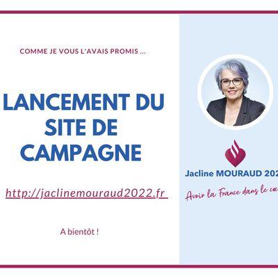 Site de campagne et programme de Jacline Mouraud pour les Présidentielles de 2022