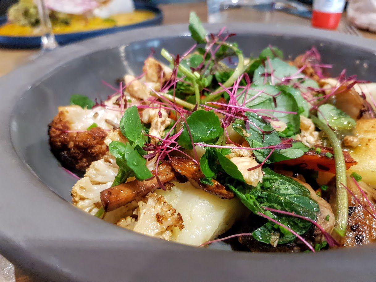 Gnocchis aux petits légumes d'automne, pesto à la truffe BMB Diderot restaurant Paris 12