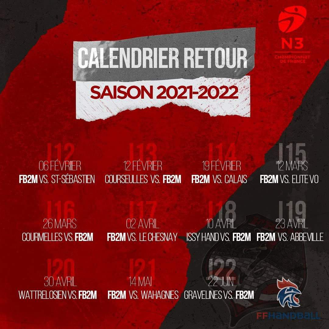 CALENDRIER NATIONALE 3