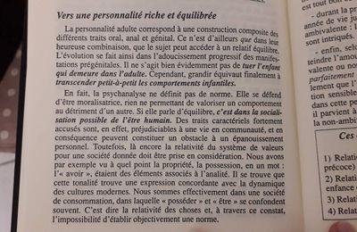 """"""" Vers une personnalité riche et équilibrée..."""""""