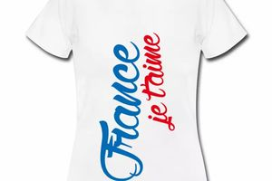 T shirt France je t'aime FBL