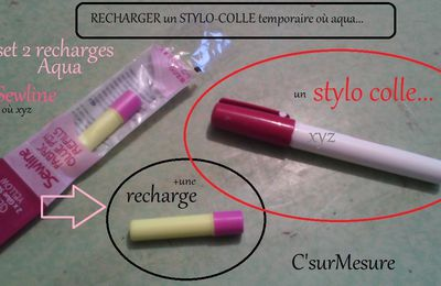 comment recharger tout stylo-colle couture
