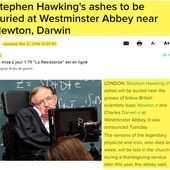 Stephen Hawking's ashes to sit near graves of Newton and Darwin - OOKAWA Corp.