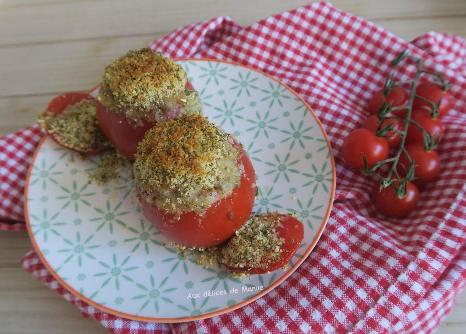 Tomates farcies au veau et persillade