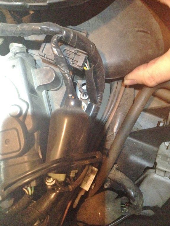 Diaporama 08 photos - J'ai marqué les conduits pour le remontage