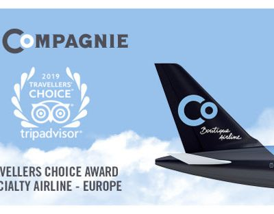 La Compagnie remporte un Travellers' Choice® Award de Trip Advisor