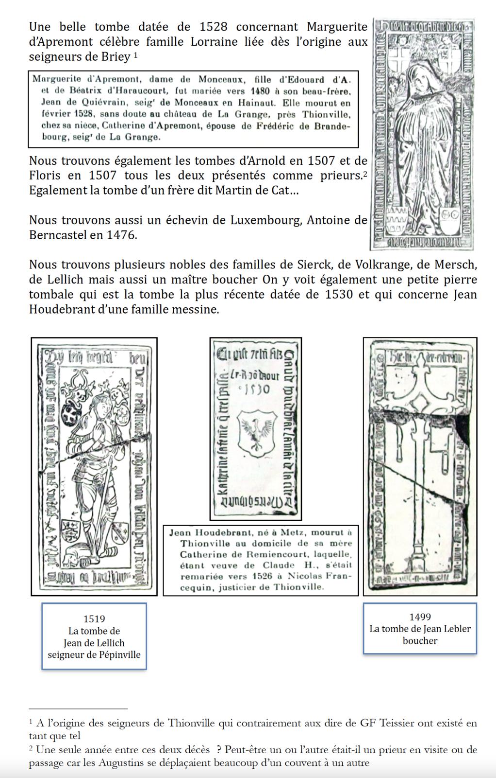 1558 - Les bâtiments conventuels des Augustins de Thionville (1/2)