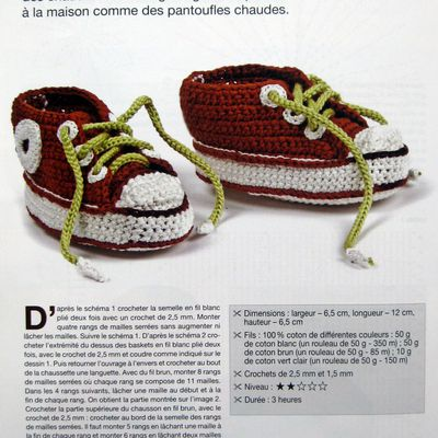 Des basket au crochet ou au tricot pour bébé ...