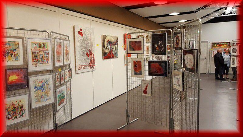 """""""LES HOM.ARTS VOIENT ROUGE""""...NOTRE EXPOSITION COMMENCE CE SAMEDI ...AU KURSAAL DE BERCK..."""