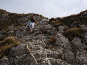 Roc d'Enfer: Enchaînement des 4 sommets par les arêtes (2/2)