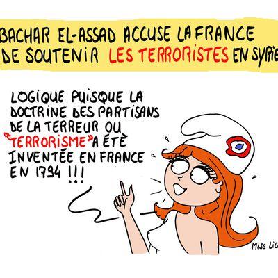 Bachar El-Assad accuse la France de soutenir les terroristes en Syrie !
