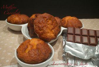 Muffins avec un coeur chocolat