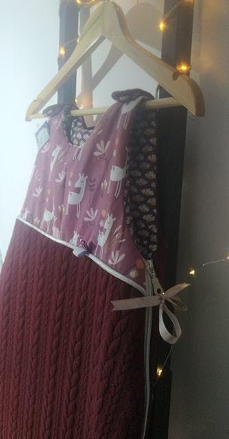 De la douceur avec cette ensemble Collection : TORSADES .. Gigoteuse/ couverture lit/ sac ... Bientôt en boutique en ligne ...